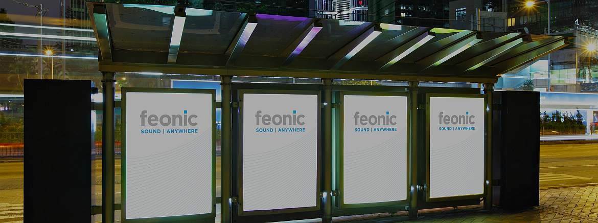 Interactive Bus Shelter Advertising and Promotion using Feonic Digital Signage Speakers