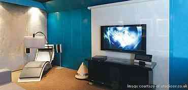 Home Theater or Boardroom Wall turned into surface speakers