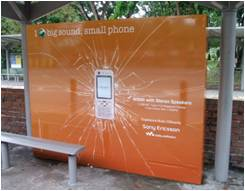 Interactive Bus Shelter Advertising and Digital Signage with sound