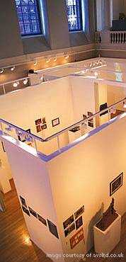 Multi zone PA Speakers from under floor speakers in exhibition