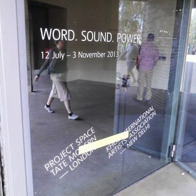 Tate Modern Sound Installation - WORD. SOUND. POWER - by  Caroline Bergvall