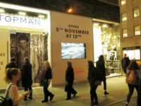 Digital Window Display - Video Installation in TOPSHOP Flagship Store Windows, NYC, USA