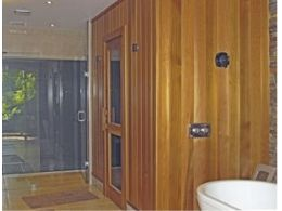 Invisible Wall Speakers Installed for Waterproof Sauna Sound System