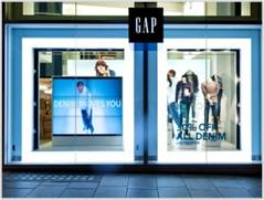 GAP London Fashion storefront event in the UK